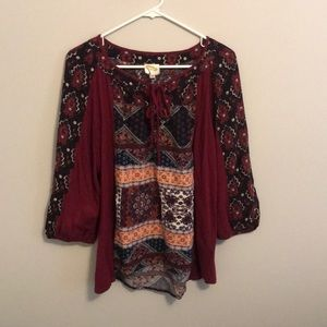 Fig and flower anthropology top L